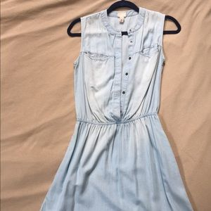 Short chambray dress